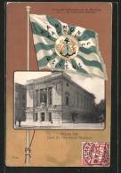 CPA Geneve, Concours International De Musique 1902, Victoria Hall, Local De L'Harmonie Nautique, Fahne - GE Genève
