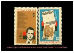CUBA/KUBA 1964  XI ANIVERSARIO DEL ASALTO AL CUARTEL MONCADA MNH - Non Classificati