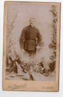 St Imier Switzerland Suisse Schweiz War WWI Military Uniform Crown Frame  (died ) Original  Cabinet Photo  (W4_498) - Fotos