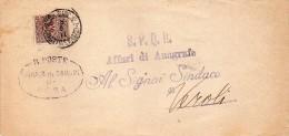 1911  LETTERA CON ANNULLO  ROMA SUCCURSALE  1 PIAZZETTA S. IGNAZIO - 1900-44 Victor Emmanuel III