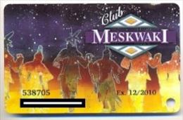 Meskwaki Casino, Tama, IA, U.S.A., older used slot or player�s card,  meskwaki-2