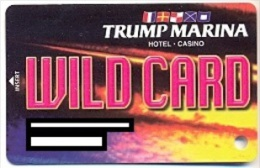 Trump Marina Casino, Atlantic City, NJ, U.S.A., older used slot card, trump-34