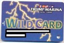 Trump Marina Casino, Atlantic City, NJ, U.S.A., older used slot card, trump-37