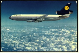 Lufthansa  -  McDonnell Douglas DC 10  ,  Ansichtskarte Ca.1975    (3794) - 1946-....: Moderne