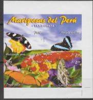 O) 2006 PERU, BUTTERFLIES, IMPEFORATE-PROOF MNH - Peru