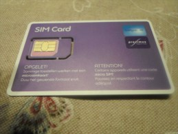 BELGIUM - MINT recent SIM card for collection n�2- Belgacom/Proximus (2 photos)