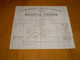 Parlanges Par Chabeuil , Drôme 1896 : épicerie, Menuiserie, Mercerie Auguste Faure Pour Le Comte De Pizançon - France