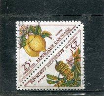GABON. 1962. SCOTT J45a. LEMONS/BANANAS - Gabon (1960-...)