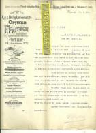 Autriche - WIEN - Facture FRITSCH - Optique – 1906 - REF 132 - Autriche