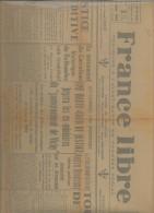 Journal France Libre Mercredi 1er  Novembre 1944 - Giornali