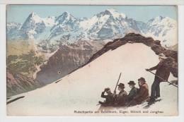 SUISSE - Rutschpartie Am Schilthorn, Eiger, Mönch Und Jungfrau - Zwitserland