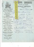 Italie - MODENA - Facture SBARBERI - Mercerie – 1909 - REF 132 - Italie