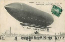 Aviation - Dirigeable - Zéppelin - ** Issy-les-Moulinaux - Première Sortie De L´Aéronef Maléat ** - Cpa En Bon état. - Dirigibili