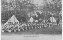GER.CPA.  CAMP DE GER SECTION AU FEU.xxxxx - France