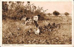 [DC5733] CARTOLINA - E. SPREAFICO - LAVORO D'AUTUNNO - Viaggiata 1926 - Old Postcard - Pittura & Quadri