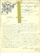Italie - COMO - Facture CLERICI LUIGI & FIGLI - Vin – 1912 - REF 132 - Italie