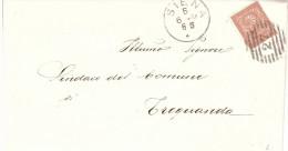 1884CENT.2 CON ANN. NUMERO 27 BUSTA BANCA NAZIONALE TOSCANA SUCCURSALE SIENA - 1878-00 Umberto I