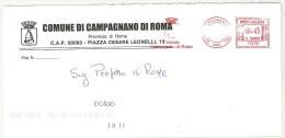 CAMPAGNANO DI ROMA CAP 00063 PROV. ROMA ANNO 2006 - LS - LAZIO - TEMATICA COMUNI D´ITALIA - STORIA POSTALE - Affrancature Meccaniche Rosse (EMA)