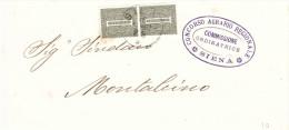 2XCENT.1 TIMBRO CONCORSO AGRARIO REGIONALE SIENA COMMISSIONE ORDINATRICE - 1900-44 Vittorio Emanuele III