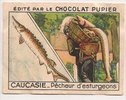 "Image N° 211 De L´album ""L´Asie"". 1938. Chocolat Pupier. Russie Caucasie Pêcheur D'esturgeon Caviar Tiflis Caspienne - Chocolat"