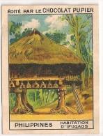"Image N° 219 De L´album ""L´Asie"". 1938. Chocolat Pupier. Philippines Habitation D'ifugaos Luçon - Chocolate"