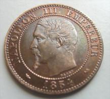2 Centimes 1854 B - Francia