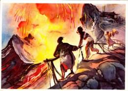 SANELLA Sammelwerk Bild Nr. 89 Am Krater Des Axo - Vulkans  (China - Tibet - Japan) - Vignettes Autocollantes