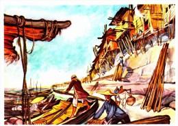 SANELLA Sammelwerk Bild Nr. 82 Häuser Am Jangtsekiang (China - Tibet - Japan) - Vignettes Autocollantes