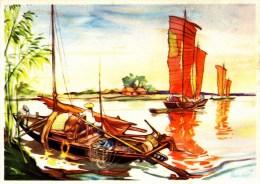 SANELLA Sammelwerk Bild Nr. 56 Dschunken Auf Dem Kaiserkanal (China - Tibet - Japan) - Vignettes Autocollantes
