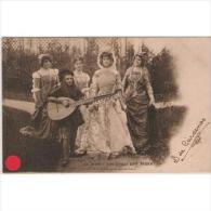 PERTP1730C-LFTP4221TMF.Tarjeta Postal De ,PERSONAJES.Reunion De 5 MUJERES Para Cantar. - Femmes Célèbres