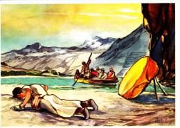 SANELLA Sammelwerk Bild Nr. 77 Der Pilger Verschmäht Die Fahrt (China - Tibet - Japan) - Stickers