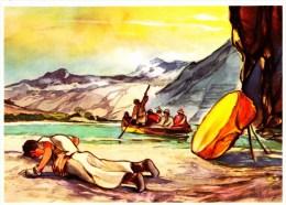 SANELLA Sammelwerk Bild Nr. 77 Der Pilger Verschmäht Die Fahrt (China - Tibet - Japan) - Vignettes Autocollantes