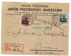 Besetz. Polen, Reco-Brief 1918  , S107 - Occupation 1914-18