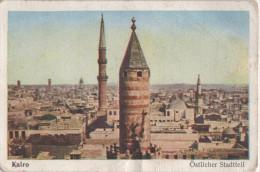 Zigaretten Sammelbild Eckstein Ulmenried Serie Kairo Bild Nr 10 Östlicher Stadtteil Dresden - Cigarette Cards