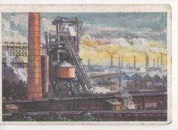 Zigaretten Sammelbild GEG Reise Deutschland Bild 14 Essen Industriegebiet Tabak Hamburg - Cigarette Cards