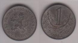 Protektorat Böhmen Und Mähren , 1 Krone , Jäger 623 , 1942 - [ 4] 1933-1945 : Third Reich
