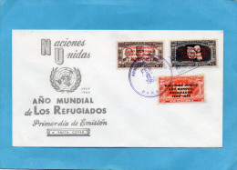 MARCOPHILIE-PANAMA-Enveloppe Année Mondiale Du Réfugié-série N°213-5 Surchagés - Panama