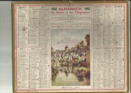 Calendrier Des Postes De 1942 De La Seine 75 - Big : 1941-60