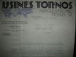 MOUTIER - Usines TORNOS - Fabrique De Machines - Année 1931 / Berne / Bienne / Biel / BE - Switzerland
