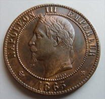 10 Centimes 1865 BB - Francia