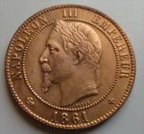10 Centimes 1861 BB - France