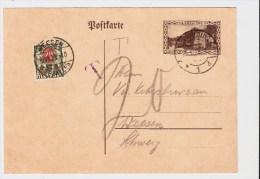 Saar, 1928, GA Mit Porto, Schweiz, #101 - Deutschland