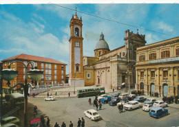 ITALY -  CALTAGIRONE  Piazza Umberto e Cattedrale - Banco di Sicilia, old car, Fiat, bus,   ,vintage  postcard