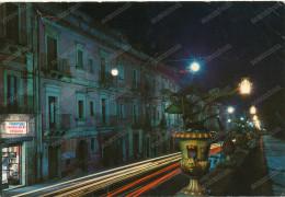 ITALY -  CALTAGIRONE  VIA ROMA DI NOTTE,barbieri,vintage  postcard