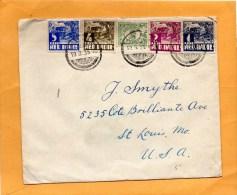 Netherlands Indie 1936 Cover Mailed To USA - Indes Néerlandaises