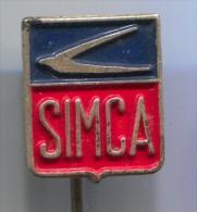 Cars - SIMCA, Car, Auto, Old Pin, Badge - Pin's