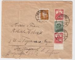 DR, 1932, ZD Auf Brief, (Mi. Lose 80.-)   #114 - Zusammendrucke