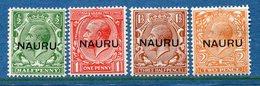 Colonie Anglaise, Nauru N° 1a à 4a * - Grande-Bretagne (ex-colonies & Protectorats)