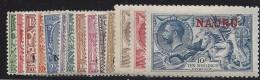 Colonie Anglaise, Nauru N° 1 à 14* - Grande-Bretagne (ex-colonies & Protectorats)