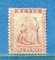 Colonie Anglaise, Nevis N° 1 * Côte 350€ - Grande-Bretagne (ex-colonies & Protectorats)